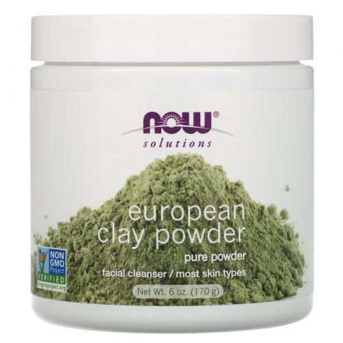 Now Foods, Now Foods, Solutions, порошок европейской глины, 6 унций (170 г)