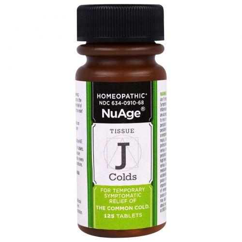 Hyland's, NuAge, «Ткань J против простуды», 125 таблеток