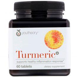 Youtheory, Куркума, 60 таблеток