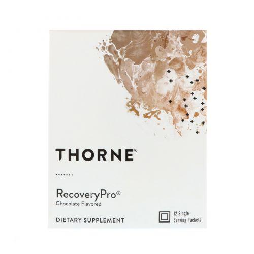 Thorne Research, RecoveryPro, со вкусом шоколада, 12 пакетиков, 1,1 унц. (32 г) каждый