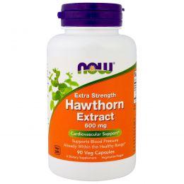 Now Foods, Экстракт Боярышника для Роста Силы, 600 мг, 90 Растительных капсул