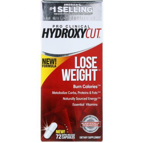 Hydroxycut, Pro Clinical Hydroxycut, похудение, 72 капсулы с быстрым высвобождением