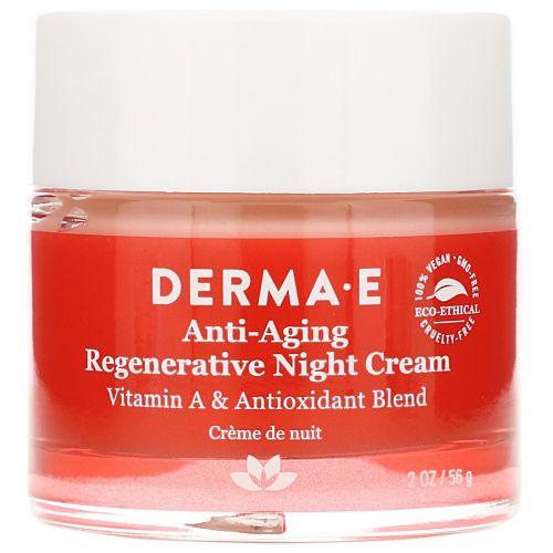 Derma E, Антивозрастной ночной крем, 2 унции (56 г)