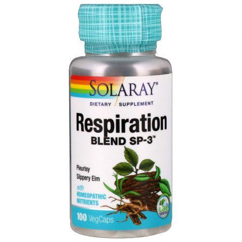 Solaray, Дыхательная смесь СП-3, 100 вегетарианских капсул