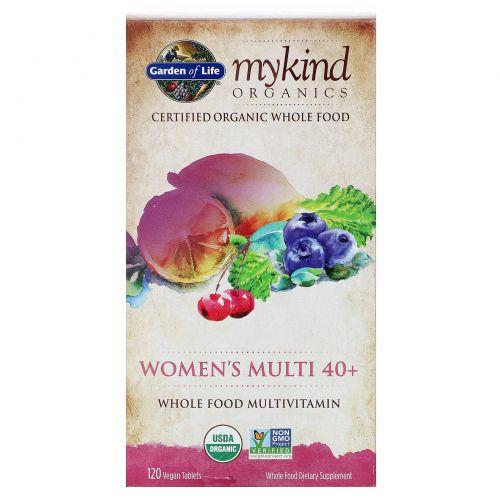 Garden of Life, Women's Multi 40+, цельнопищевые мультивитамины, 120 веганских таблеток