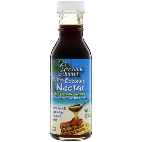 Coconut Secret, Традиционный кокосовый нектар, подсластитель с низким гликемическим индексом, 355 мл (12 ж. унц.)