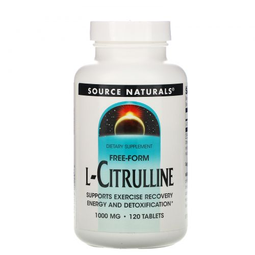 Source Naturals, L-цитруллин, в свободной форме, 120 таблеток