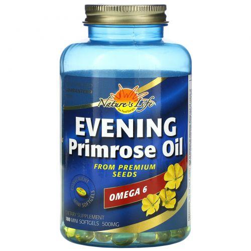 Health From The Sun, Масло вечерней примулы, омега-6, 180 желатиновых миникапсул
