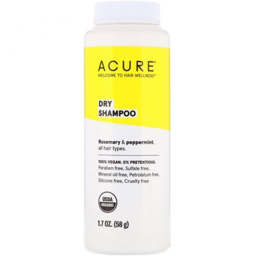 Acure, Органический сухой шампунь, 1.7 унц. (48 г)