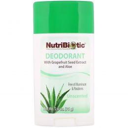 NutriBiotic, Дезодорант длительного действия, без запаха, 2,6 унции (75 г)