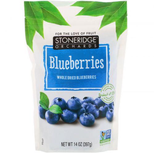 Stoneridge Orchards, Blueberries, Whole Dried Blueberries, 14 oz (397 g)