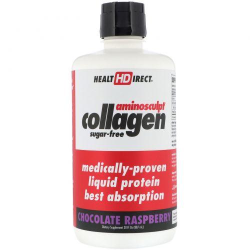 Health Direct, AminoSculpt Collagen, Chocolate Raspberry, 30 fl oz (887 ml)