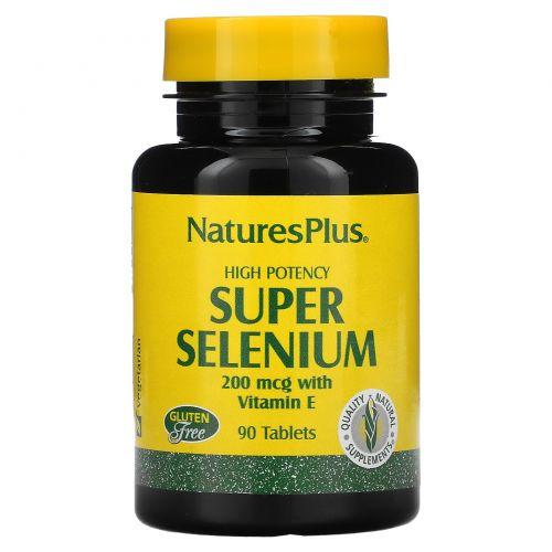 Nature's Plus, Super Selenium, супер селен, 200 мкг, 90 таблеток