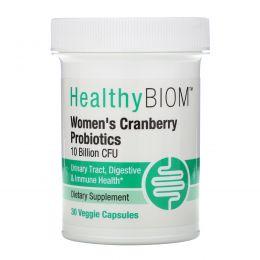 HealthyBiom, Women's Cranberry Probiotic, 10 Billion CFUs, 30 Veggie Capsules