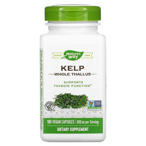 Nature's Way, Kelp, 600 mg, 180 Veggie Capsules