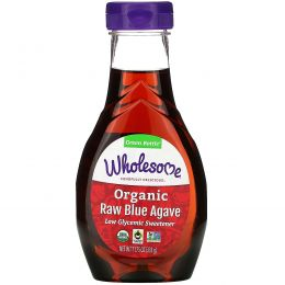 Wholesome Sweeteners, Inc., Органическая сырая голубая агава, 11,75 унции (333 г)