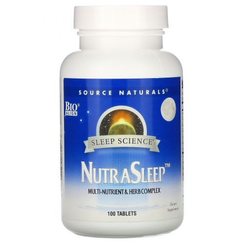 Source Naturals, Пищевая добавка NutraSleep, 100 таблеток