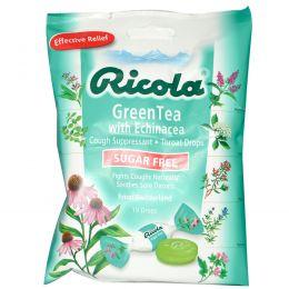 Ricola, Зеленый чай с эхинацеей, Без сахара, 19 леденцов