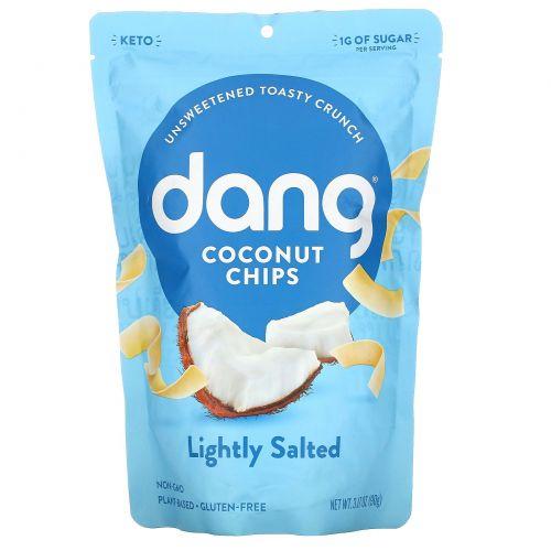 Dang Foods LLC, Поджаренные кокосовые чипсы, слегка соленые, 3,17 унций (90 г)