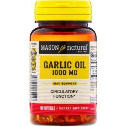 Mason Naturals, Чесночное масло 1000, 100 мягких капсул