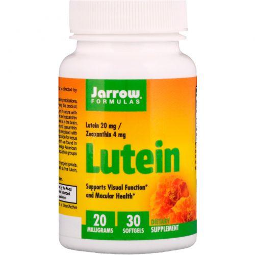 Jarrow Formulas, Лютеин, 20 мг, 30 гелевых капсул