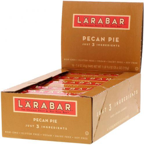 Larabar, Батончик со вкусом пирога с орехами пекан, 16 батончиков по 45 г