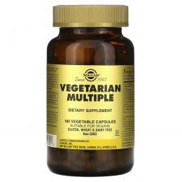 Solgar, Вегетарианские мультивитамины, 180 растительных капсул