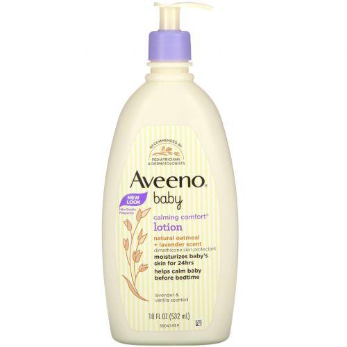 Aveeno, Смягчающий, успокаивающий лосьон, лаванда и ваниль, 18 ж. унц. (532 мл)