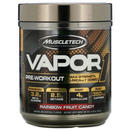 Muscletech, Vapor1, Pre-Workout, Rainbow Fruit Candy, 14.85 oz (421 g)