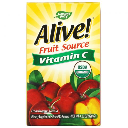Nature's Way, Alive!, Vitamin C, Powder, 120 g