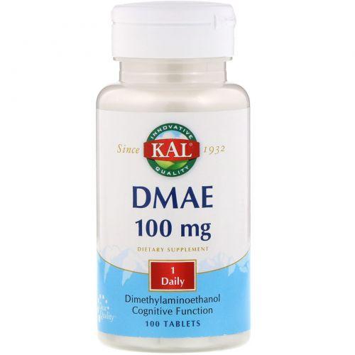KAL, ДМАЭ, 100 мг, 100 таблеток