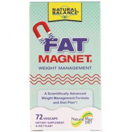 Natural Balance, Fat Magnet, управление весом, 72 растительные капсулы