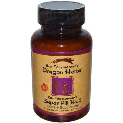 Dragon Herbs, Супер таблетки №2, 420 мг, 60 растительных капсул
