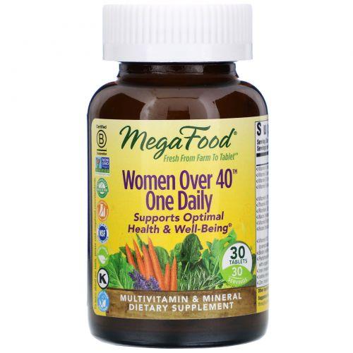 MegaFood, Мультивитамины для женщин за 40, 30 таблеток