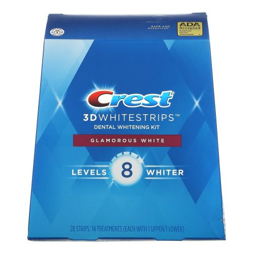 Crest, 3D Whitestrips, Glamorous White, комплект для отбеливания зубов, 28полосок