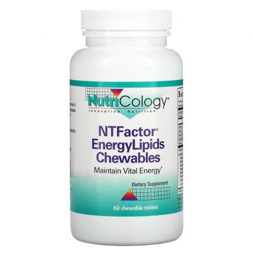 Nutricology, Энергетические жевательные липиды NT Factor, 60 жевательных таблеток