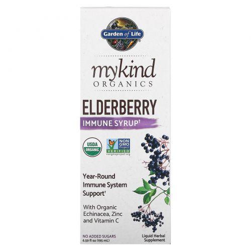 Garden of Life, MyKind Organics, сироп с бузиной для иммунитета, 6,5 ж. унц. (195 мл)