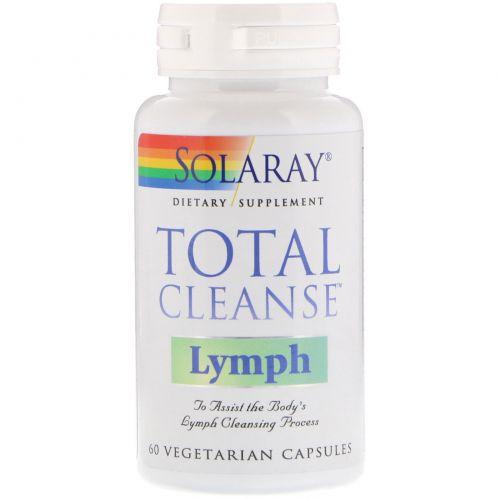 Solaray, Total Cleanse для очистки лимфы, 60 вегетарианских капсул