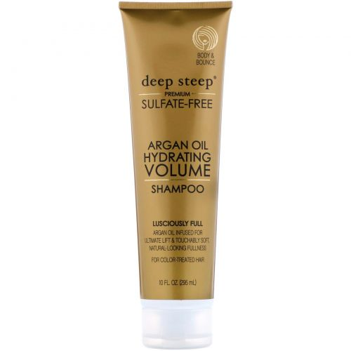 Deep Steep, Аргановое масло, увлажняющий шампунь, увеличение объема, изумительная густота, 10 жид. унций (295 мл)