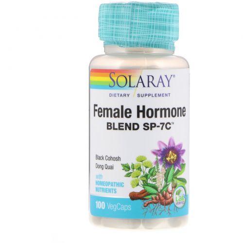 Solaray, Смесь женских гормонов SP-7C, 100 вегетарианских капсул