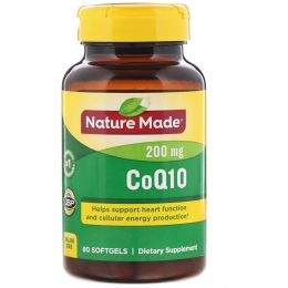 Nature Made, CoQ10, 200 мг, 80 капсул