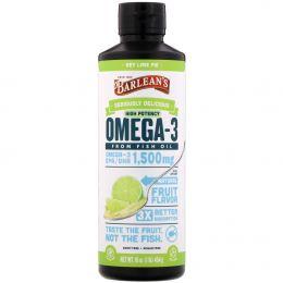 Barlean's, Omega Swirl, омега-3 рыбий жир, с ки лаймом, 16 унций (454 г)