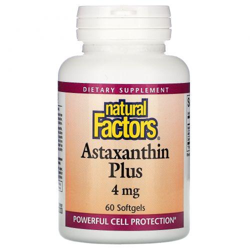 Natural Factors, Astaxanthin Plus, 4 mg, 60 Softgels