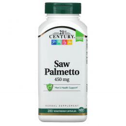 21st Century, Нормированный экстракт со пальметто, 200 капсул на растительной основе