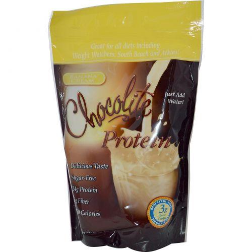 HealthSmart Foods, Inc., Шоколадный протеин, Банановый крем 14.7 унции (418 г)