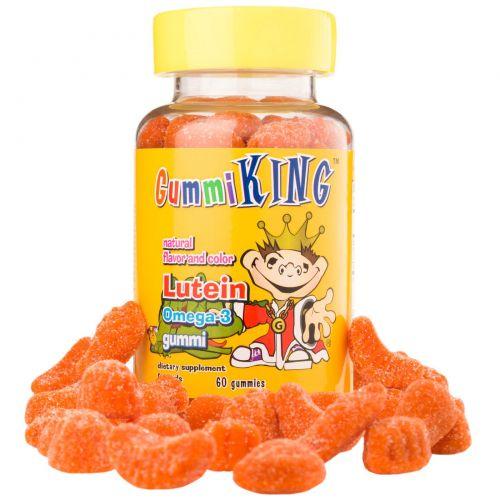 Gummi King, Мишки Лютеин Омега-3, 60 мишек