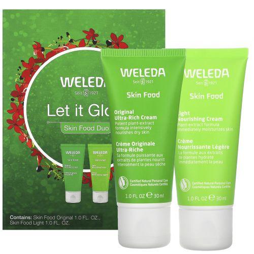 Weleda, Let It Glow, Skin Food Duo, 2 Piece Set, 1.0 fl oz (30 ml) Each