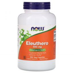 Now Foods, Элеутерококк, 500 мг , 250 капсул