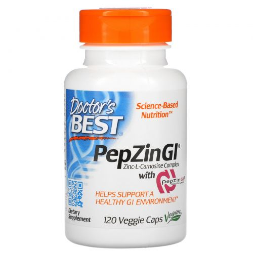 Doctor's Best, Цинк-L-карнозин, комплекс с PepZin Gl