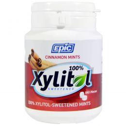 Epic Dental, Подслащенные 100%-ным ксилитом мятные таблетки с корицей, 180 шт.